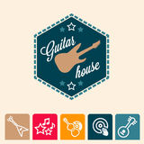 Guitar house Royalty Free Stock Photography