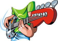 Guitar in human hands Royalty Free Stock Image