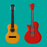 Guitar icon, Guitar icon , Guitar icon eps10. Vector illustration in flat style Royalty Free Stock Photo