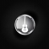 Guitar icon. Music background Stock Image