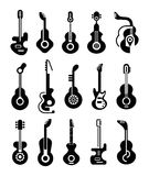 Guitar Icons Stock Image