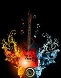 Guitar illustration Stock Image