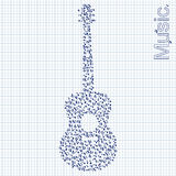 Guitar illustration Royalty Free Stock Photos