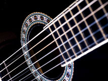 Guitar. Image of black guitar, background Stock Photography
