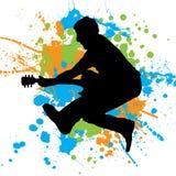 Guitar jump Stock Photo
