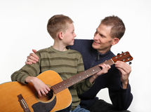 Guitar lessons Royalty Free Stock Photography