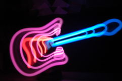 Guitar light zoom effect Stock Photo