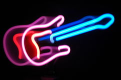 Guitar light zoom effect Stock Images