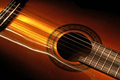 guitar lightbrush 1 Royalty Free Stock Photo