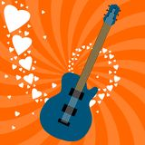 Guitar love Royalty Free Stock Photography