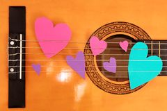 Guitar love Stock Images