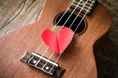 Guitar lover Stock Image