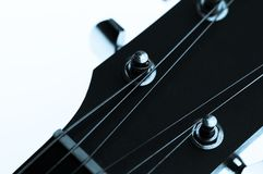 Guitar Machine Heads and Strings Stock Photography