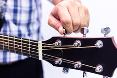 Guitar maintaining Stock Image