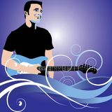 Guitar man background Stock Photography