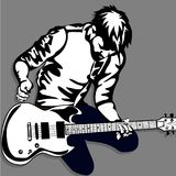 Guitar man play music graphic object. Guitar man play music graphic Stock Photo