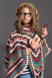 Guitar man Stock Image