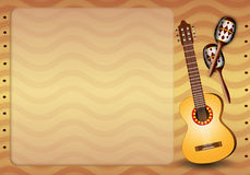 Guitar and maracas Stock Image