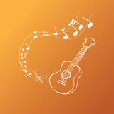 Guitar Melody Royalty Free Stock Images