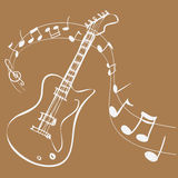 Guitar Melody Royalty Free Stock Photography