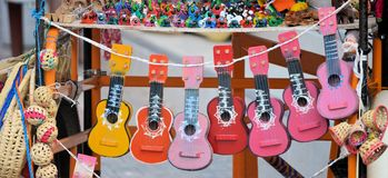 Guitar from Mexico Royalty Free Stock Photo
