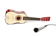Guitar and microphone Royalty Free Stock Images
