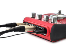 Guitar multi effects pedal Royalty Free Stock Images