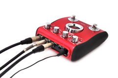 Guitar multi effects pedal Royalty Free Stock Photo