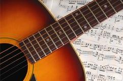 Guitar on Music Stock Photo
