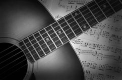 Guitar on Music Royalty Free Stock Images
