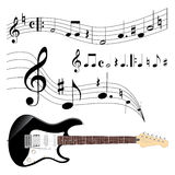 Guitar and music Stock Photos