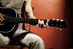 Guitar music Royalty Free Stock Photo