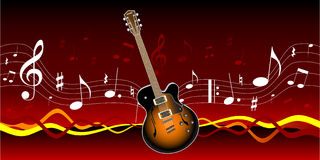 Guitar and music Royalty Free Stock Photo