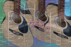 Guitar and Music Abstract Stock Photos