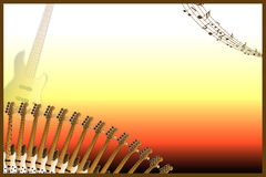 Guitar Music background Stock Image