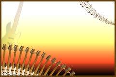 Guitar Music Background Stock Image