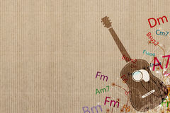 Guitar and Music background Stock Images
