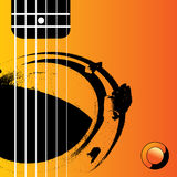 Guitar Music Background. An Acoustic Guitar background illustration Royalty Free Stock Photo