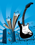 Guitar music background Royalty Free Stock Images