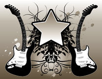 Guitar & Music Background Stock Photo