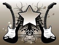Guitar & Music Background Stock Photo