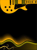 Guitar Music Background. A background image of an electric guitar with space for text or copy royalty free illustration