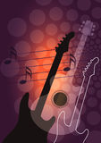 Guitar music background. Stock Photos