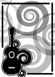 Guitar music flyer poster royalty free stock photos