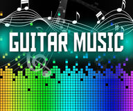 Guitar Music Indicates Sound Track And Guitarist. Guitar Music Representing Sound Tracks And Guitarist Stock Images