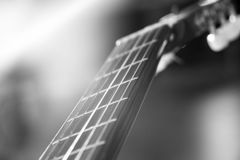 Guitar music instrument macro drammatic picture Stock Photography