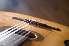 Guitar music instrument macro drammatic picture Royalty Free Stock Photography