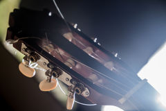 Guitar music instrument macro drammatic picture Stock Images