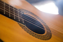Guitar music instrument macro drammatic picture Royalty Free Stock Image