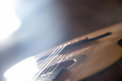 Guitar music instrument macro drammatic picture Royalty Free Stock Images